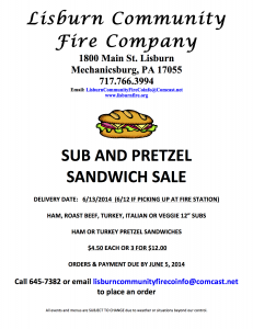 Sub and Sandwich Sale Flyer